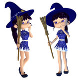 Cute 3d Witch Stock Images