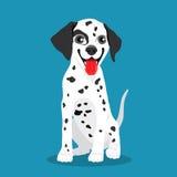 Cute Dalmatian dog. Vector Royalty Free Stock Image
