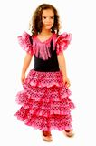 Cute Dancer. Cute Girl with typical spain dancer clothes royalty free stock photo