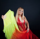Cute dancer  in circus Royalty Free Stock Photography