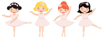 Cute dancing ballerinas Stock Photo