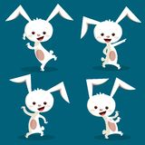 Cute dancing bunny. Illustration Stock Photography