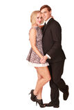 Cute dancing couple Royalty Free Stock Image