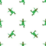 Cute dancing leprechaun seamless pattern for Saint Patrick's Day Stock Photography