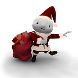Cute Dancing Santa Stock Image