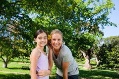 Cute daughter with her mother Royalty Free Stock Image