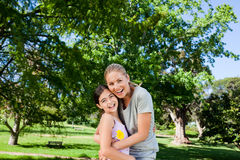 Cute daughter with her mother Stock Photo