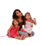 Cute daughters and mom Stock Photo