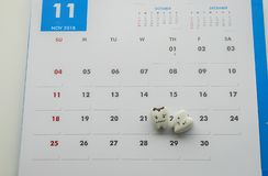 Cute decay teeth icon for human oral health concept to make a check up on November 2018 calendar. Close up cute decay teeth icon for human oral health concept to royalty free stock photo