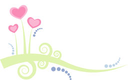 Cute deco design with hearts and swirls Royalty Free Stock Photos