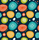 Cute decorative pattern in scandinavian style. Abstract background with colorful simple shapes. Cute decorative pattern in scandi Stock Photo