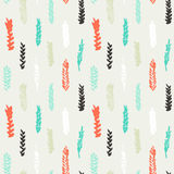 Cute decorative seamless pattern with cereals Royalty Free Stock Photos