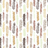 Cute decorative seamless pattern with cereals Stock Photos