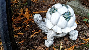 Cute Decorative Turtle in a Garden Setting Royalty Free Stock Image