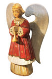 Cute Decorative Xmas Wooden Angel Stock Photos