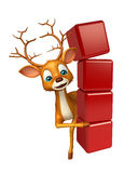 Cute Deer cartoon character with level Royalty Free Stock Image