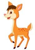 Cute deer cartoon Royalty Free Stock Images