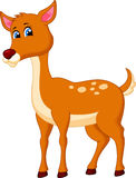 Cute deer cartoon Royalty Free Stock Photos