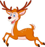 Cute deer cartoon running Royalty Free Stock Photo