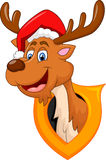 Cute deer christmas cartoon Stock Photography