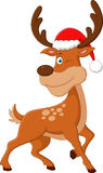 Cute deer christmas cartoon Royalty Free Stock Photo