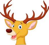Cute deer head cartoon Royalty Free Stock Images