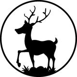 Cute deer silhouette Royalty Free Stock Images
