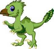 Cute deinonychus cartoon Stock Images