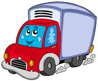 Cute delivery car Royalty Free Stock Photos