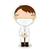 Cute dentist  Boy on white background Royalty Free Stock Images