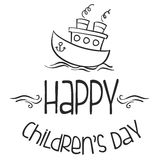 Cute design childrens day background Stock Images