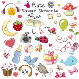 Cute design elements stock illustration