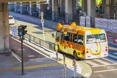 A cute design Japanese schoolbus stock image