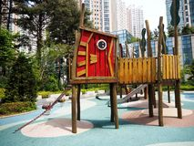 Cute design playground at the park Stock Photo