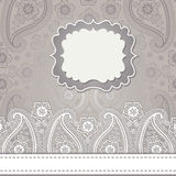 Cute design template.Paisley border lace Stock Image