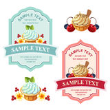 Cute dessert label Stock Photo