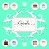 Cute dessert menu design Stock Photo