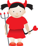 Cute devil girl Stock Photos