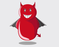 Cute devil. Looks like wanna make a trouble Royalty Free Stock Photography