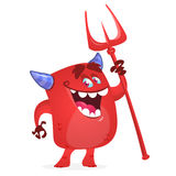 Cute devil monster. Halloween vector character. Stock Photo