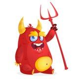 Cute devil monster. Vector Halloween cartoon devil Stock Photo