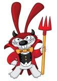 Cute devil rabbit Stock Photo