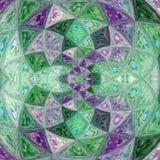 Cute diagonal kaleidoscope design background in teal and violet. Diagonal kaleidoscope design background in teal and violet Royalty Free Stock Photo