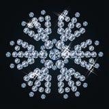 Cute diamond snowflake Stock Photography