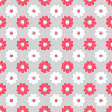 Cute different seamless pattern. Pink, white and vector illustration