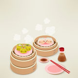 Cute Dim sum Stock Photos