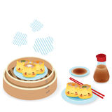 Cute Dim sum. Chinese Food Vector File EPS10 Stock Photos