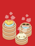 Cute Dim sum. Chinese Food Vector File EPS10 Royalty Free Stock Images