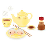 Cute Dim sum. Chinese Food Vector File EPS10 Royalty Free Stock Photo