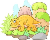 Cute Dimetrodon, funny image Royalty Free Stock Photography